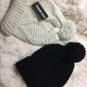 2 Pom Pom hats